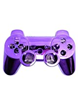 Game Xcel Purple Chrome Finished Replacement Playstation 3 Controller Shell Case Kits Buttons