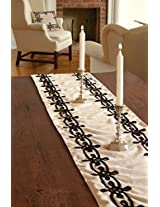 Downton Abbey Table Runner (13 X 72 ) Cream From the Lady Cora Collection