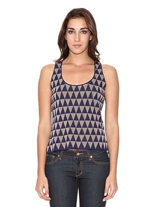 SIYU Top Knit Triángulos (azul/beig)