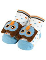 Stephan Baby Non-Skid Rattle Socks, Mr. Hooty Owl, 6-12 Months