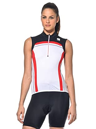 Sportful Mallot Bike Anakonda (Blanco/Rojo)