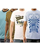 Funktees 100% Best Price Cotton Mens Round Neck M Size T-shirt - Pack of 4