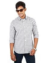 Barrier Reef Men's Slim Fit Shirt(Grey,S)