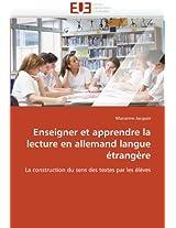 Enseigner Et Apprendre La Lecture En Allemand Langue Etrangere