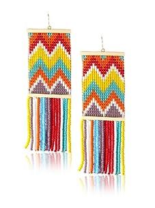 nOir Multicolor Zig Zag Fringe Earrings