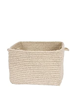 Colonial Mills Chunky Natural Wool Basket, (Light Gray)