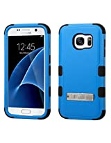 MyBat Cell Phone Case for Samsung Galaxy S7 - Retail Packaging - Black/Blue/Blue/Balck