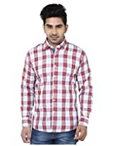 Crocks Club Men's Regular Fit Cotton Shirt (N211-2_Multi-Coloured_42)