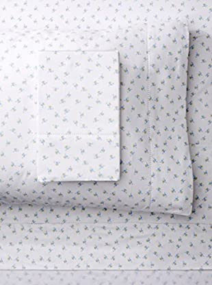 Melange Home 400 Thread Count 100% Cotton Chic Floral Classic Hemstitch Sheet Set