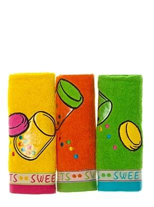 La Bruja Paño de cocina Sweets Set 3 (Multicolor)