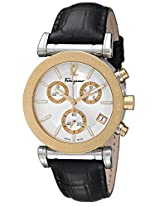 Salvatore Ferragamo Mens FP1830014 Salvatore Analog Display Swiss Quartz Black Watch