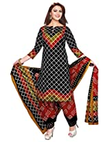 EthnicVibe Printed Cotton Dress Material