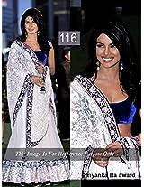 Bollywood Replica Priyanka Chopra Net Lehenga In White And Blue Colour Nc295