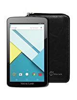 """Visual Land Prestige ELITE 7QS - 7"""" QuadCore 16GB Android Tablet with Wallet Case, Lollipop 5.0 OS, Wifi, 1024x600 HD, Google Play (Black)"""
