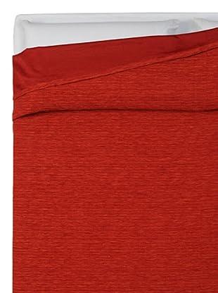 HomeTrends Copriletto Finiseta Liscio (Rojo)