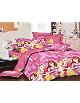 Star 3D-BGirl Print Double Bedsheet with 2 Pillow Covers