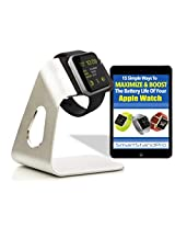 Apple Watch Charging Stand That Makes Docking & Charging Your Apple Watch Easy. Works With All Apple Watch Band Types. Comes With FREE Downloadable Apple Watch Battery Maximizer Guide.