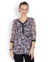 Ayaany Ladies Black Polyester Top - ARY873_S