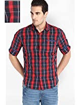 Checked Red Casual Shirt