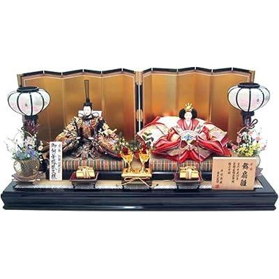 秀光作のひな人形:親王飾り 平台飾り