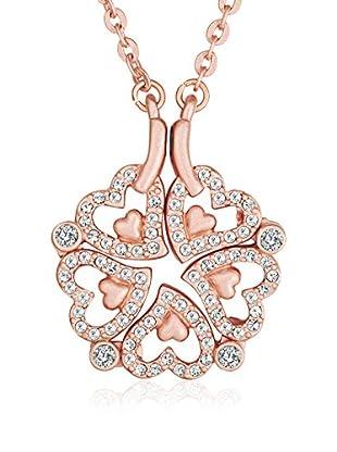 Saint Francis Crystals Halskette mit Anhänger Made With Swarovski® Elements rosévergoldet