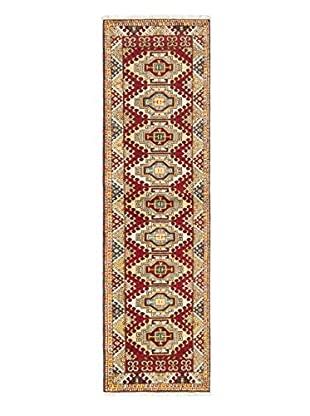 Hand-Knotted Royal Kazak Rug, Dark Red, 2' 10