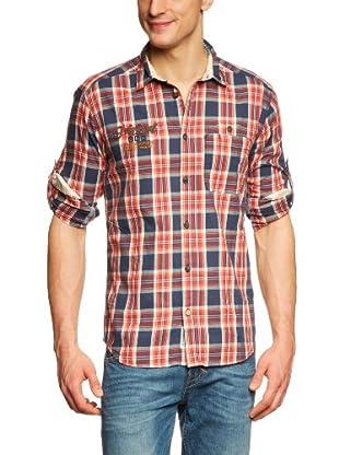 JACK & JONES Camisa (Azul / Rojo)