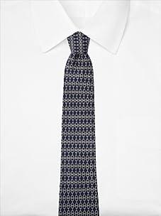Hermès Men's Chain Link Tie, Navy, One Size