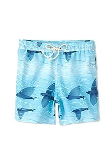 Strong Boalt Men's Flying Fish Classic Swim Trunks (Blue Skies)