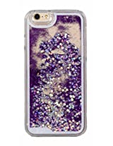 Phoenix Bling Sparkle Glitter Stars Dynamic Liquid Quicksand Clear Hard Case Frame for iPhone 6 4.7 inch - Purple