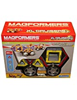 Magformers 32 Piece Magnetic Construction Set: Xl Cruisers