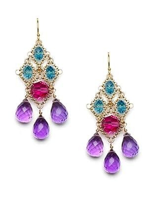 Diane Yang Chandelier Earrings, Purple