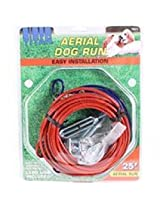 Coastal Pet Products DCP89070 Steel Titan Aerial Dog Run Cable Trolley System with Brass Plated Snaps, 25-Feet...