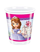 Disney Sofia The First Plastic Cups, Multi Color (200ml)