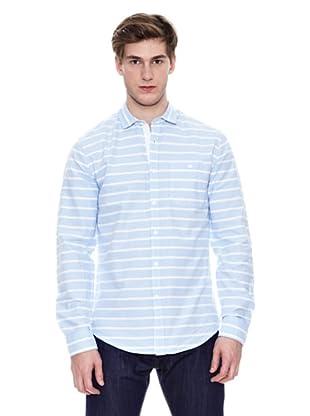 Springfield Camisa De Rayas S1 Raya Horizontal (Azul)