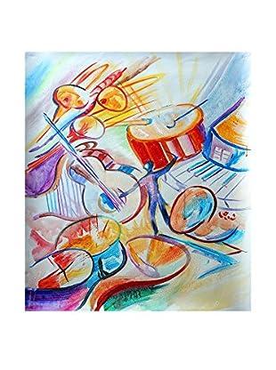 Legendarte Pintura al Óleo sobre Linezo La Musica Intorno