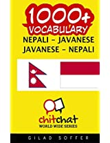 1000+ Nepali - Javanese, Javanese - Nepali Vocabulary