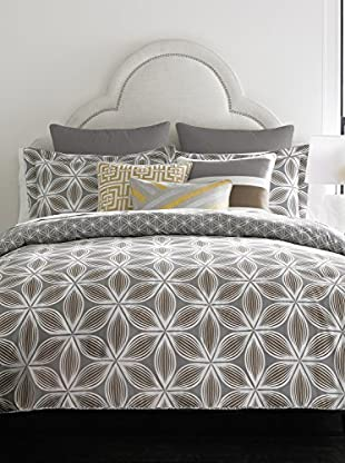 Happy Chic by Jonathan Adler Laura Reversible Comforter, Grey/White, Full/Queen