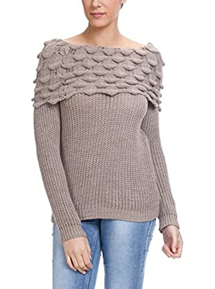 Tantra Pullover Boat Neck With Wave Detail