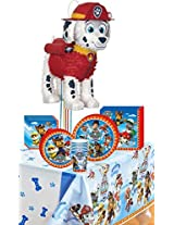 Paw Patrol Deluxe Party Kit Including Plates, Cups, Napkins, Tablecover And Pinata 8 Guests