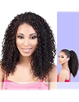 Tio 182 (Motown Tress) Synthetic Half Wig & Ponytail In 1 B