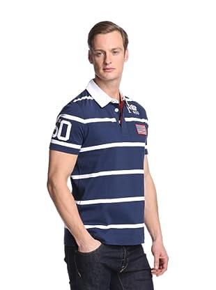 Façonnable Men's USA Polo Shirt (Navy)