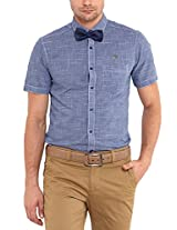 Classic Polo Men Cotton Blue Half Sleeve Shirt