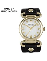 Marc by Marc Jacobs Molly Black Leather Ladies Watch