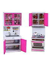 """My Modern Kitchen Mini Toy Playset w/ Lights and Sounds, Stove & Sink, Perfect for 11-12"""" Dolls"""