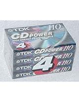 4-pack TDK Cd Power 110 Type Ii (Cro2) High Bias New Blank Audio Cassette Tapes