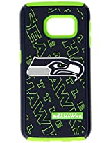 Forever Collectibles - Licensed NFL Cell Phone Case for Samsung Galaxy S6 Edge - Retail Packaging - Seattle Seahawks