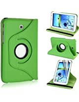 AE 360 Rotating PU Leather Stand Case For Samsung Galaxy Tab3 7.0 P3200 Green