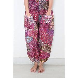 Women's Cotton Harem Gypsy Boho Pants, Multi
