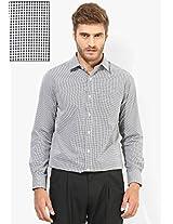White Checks Regular Fit Formal Shirt Peter England
